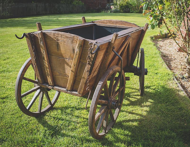 Prop Hire – Rustic Wooden Cart